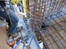 Cast in Place Angle Bar building method close up